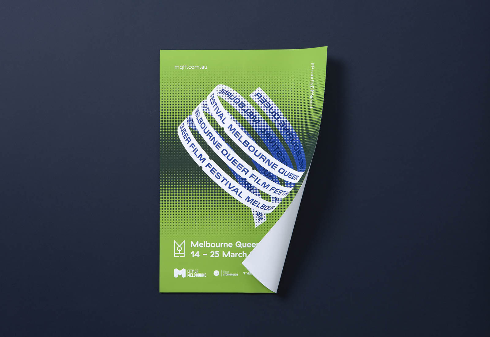 3sidedsquare-melbourne-queer-film-festival-poster-green
